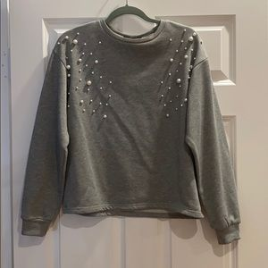 pearly sweater